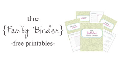Family Binder blog side widget
