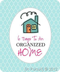 6 DAYS TO AN ORGANIZED HOME LOGO