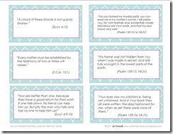 Scripture Memory Verses Printable {Set 2}