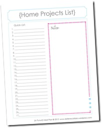 Family Binder Template, home projects2