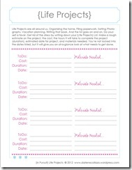 Family Binder Template, Life Projects3