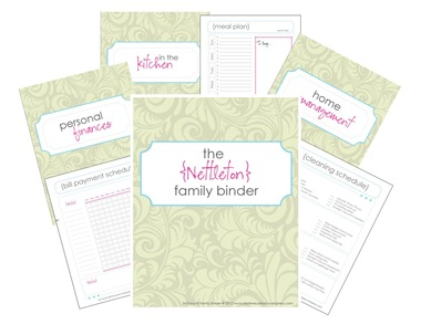 Get Your Free Family Binder Printables} |