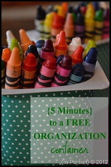 5 minutes to a free organization container