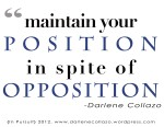 Maintain Your Position