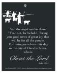 Angels Spk To Shep, Luke 2, 10-11