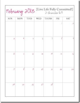 Planner Monthly Calendar