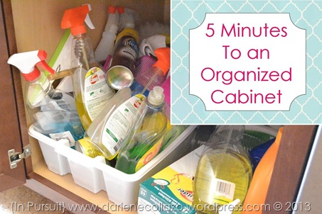 5 Minutes To An Organized Cabinet