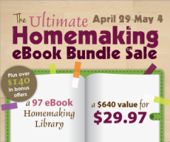 Ultimate Homemaking ebook bundle sale