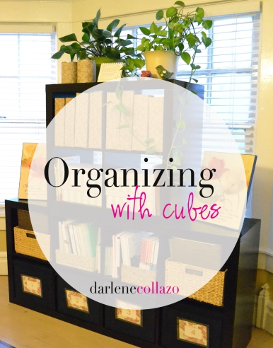 Organzing with cubes